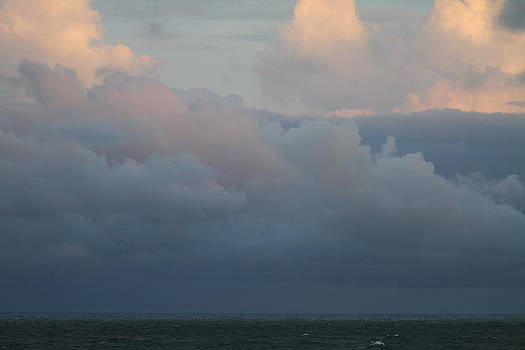 Sunset Clouds and the Ocean by Cathy Lindsey