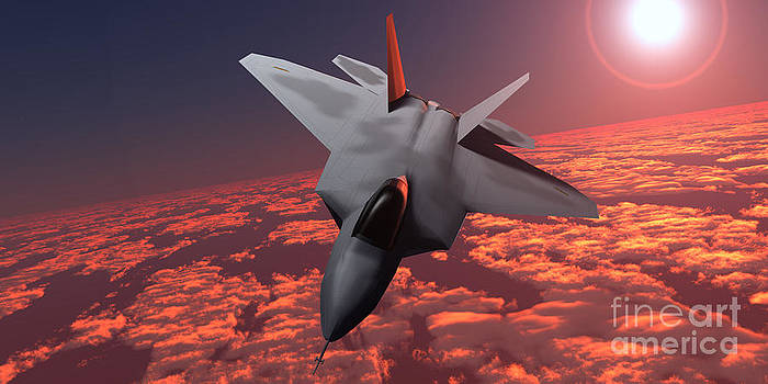 Corey Ford - Sunset Fire F22 Fighter Jet