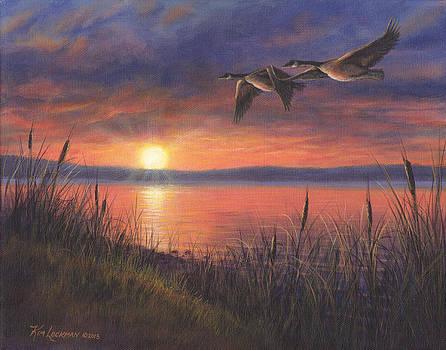 Sunset Flight by Kim Lockman