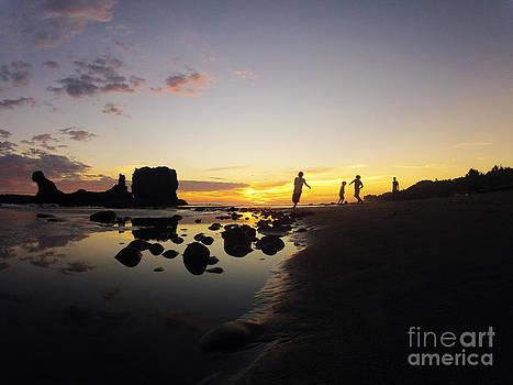 Sunset Football by Stav Stavit Zagron