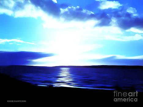 Sunset from Marina Beach Park at Edmonds Washington by Eddie Eastwood