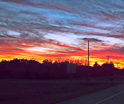 Sunset From Tellico Plains by Regina McLeroy