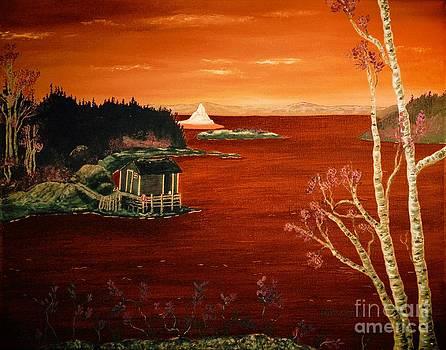Barbara Griffin - Sunset Iceberg