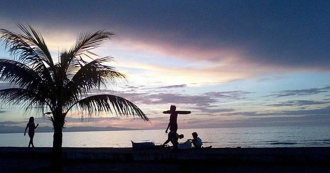 Sunset in Dipolog Philippines by Emelyn McKitrick