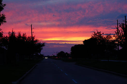 Sunset in Houston by Charles  Dutch