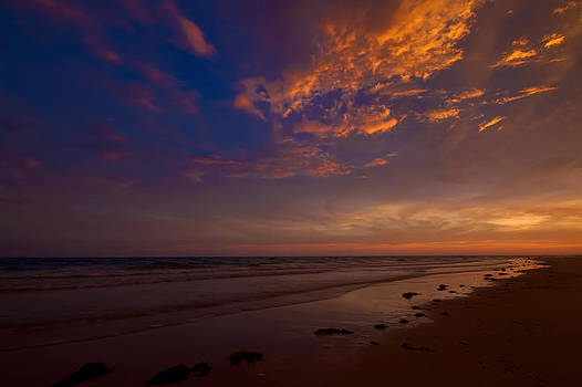 Sunset in Playa Encanto by Robert Bascelli
