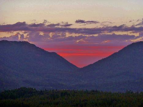 Sunset in the Heart of the Mountains by Ann Michelle Swadener