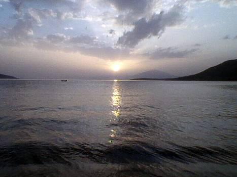 Sunset In The Island by John Davis