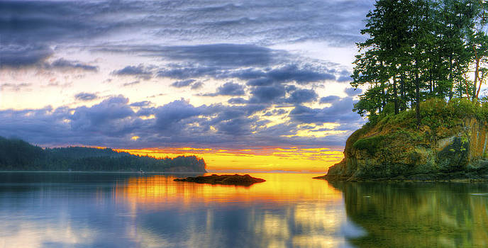 Sunset in time by Rod Mathis
