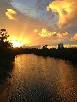 Sunset Inland Waterway by Anne Sterling