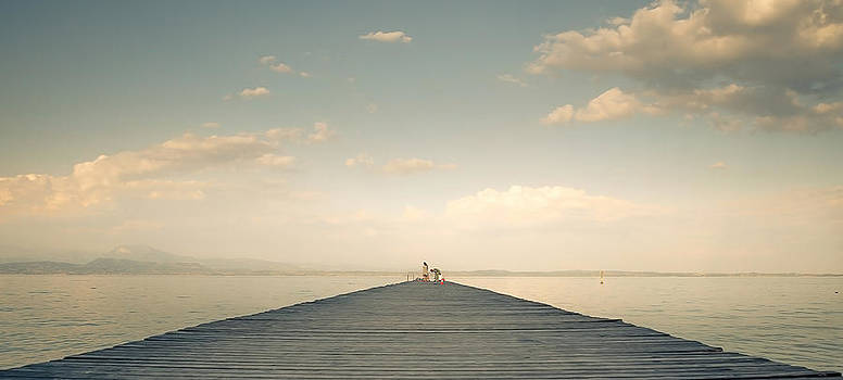 Sunset lake by Dobromir Dobrinov