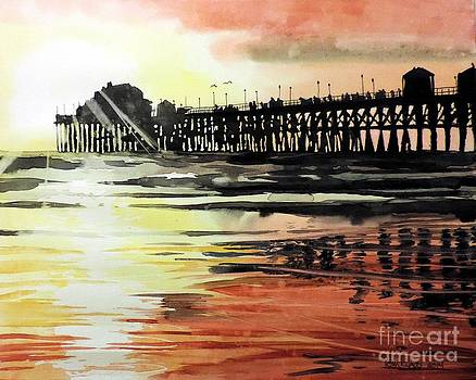 Sunset Oceanside Pier by Tom Riggs