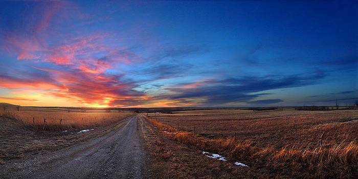 Sunset on AA Road by Rod Seel