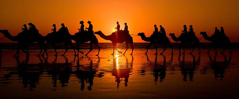 Sunset on Cable Beach by Amaya Williams