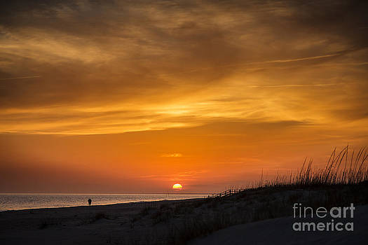 Sunset on Caswell Beach by Vicki Kohler