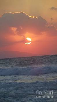 Sunset on Crete by Diane  Miller