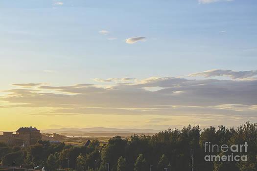 Patricia Hofmeester - Sunset on golf links