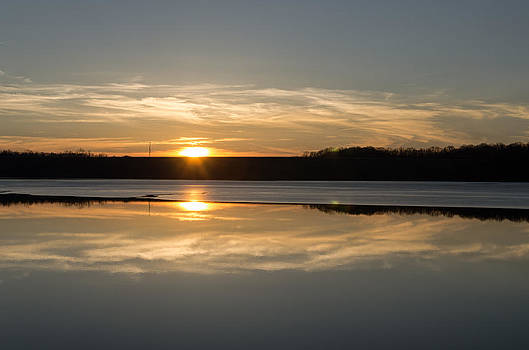 Sunset on Ice by Diana Boyd