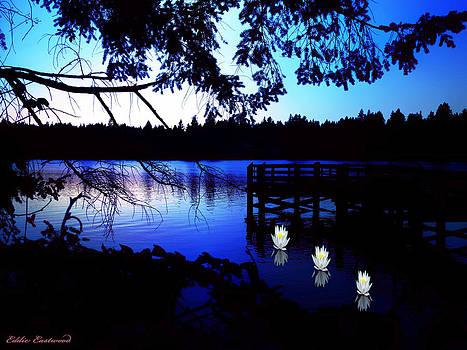 Sunset on Lake Ballinger in Edmonds Washington by Eddie Eastwood