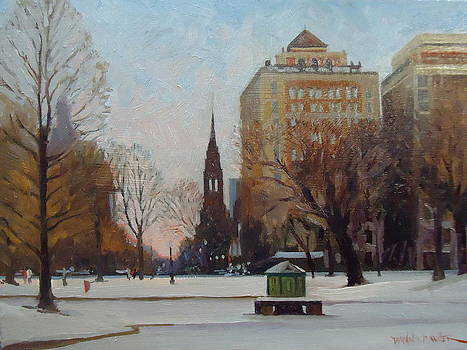 Sunset on Newbury St by Dianne Panarelli Miller