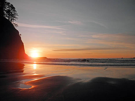 Sunset on Second Beach 2 by Sherri Odegaarden