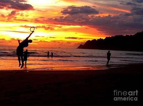 Sunset on the beach 1 by Arie Arik Chen