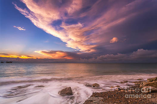 English Landscapes - Sunset on the beach