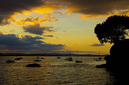 Sunset on the Exe at Lympstone by Pete Hemington