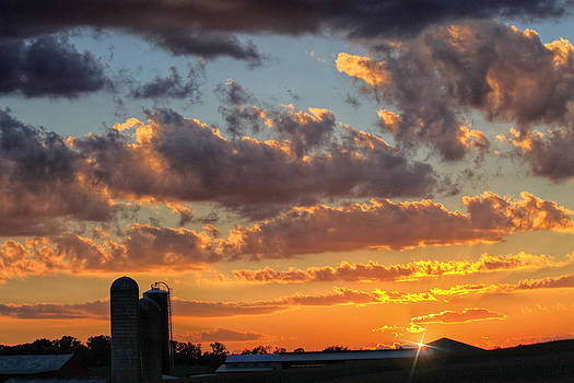 Sunset on the Farm by Beckie Fitgerald
