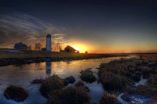 Sunset on the Farm by Dustin Miller