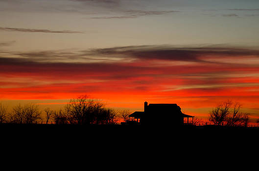 Sunset on the Farm by Lisa Moore