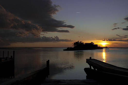 Sunset on the Gulf by Sheri Heckenlaible