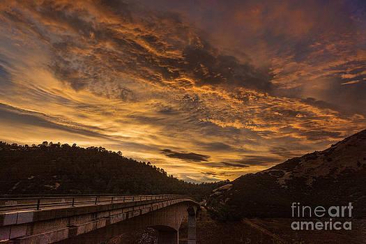Sunset on the Parrots Ferry Bridge by Daniel Ryan