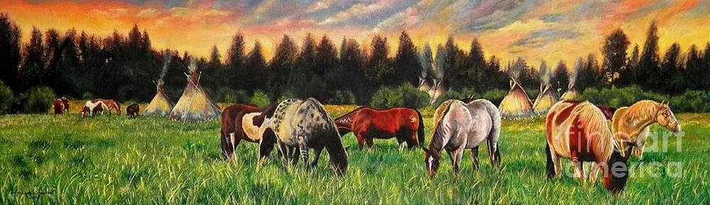 Sunset on the Plains by Amanda Hukill