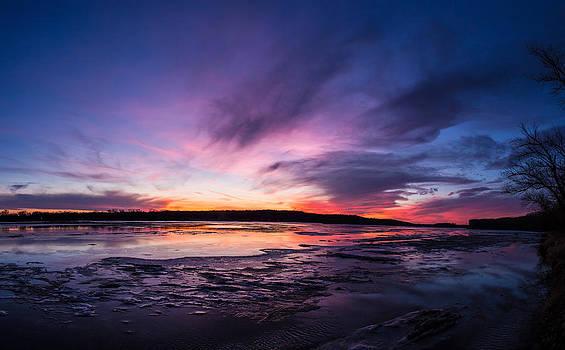 Sunset on the Platte by Joseph Mills