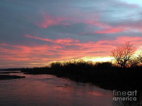Christine Belt - Sunset on the Platte River