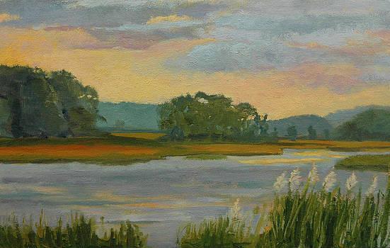 Sunset On The River by Karen Lipeika