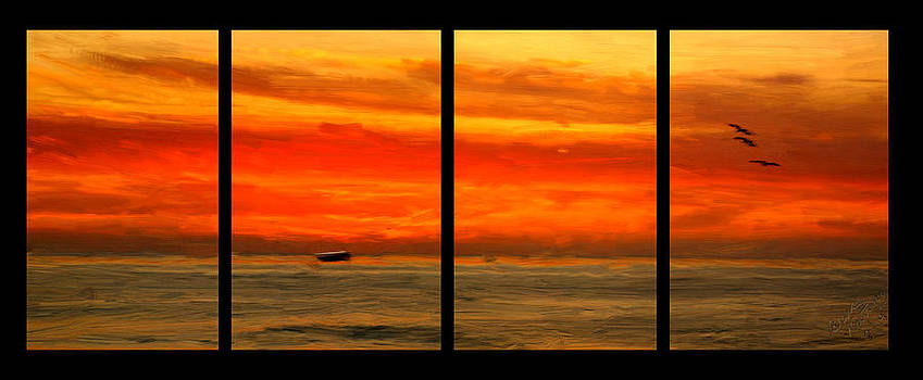 Sunset out the Window by Bruce Nutting