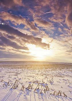 Sunset Over a Past Harvest by Michael Huddleston