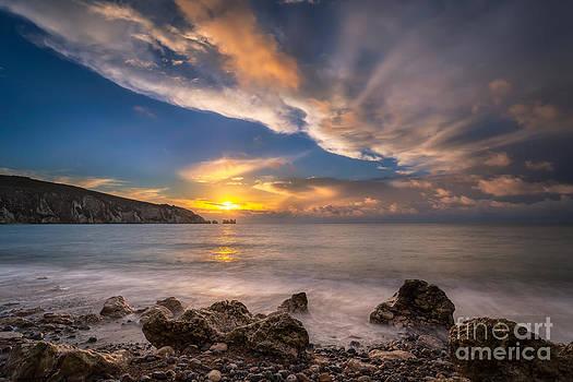 English Landscapes - Sunset Over Alum Bay