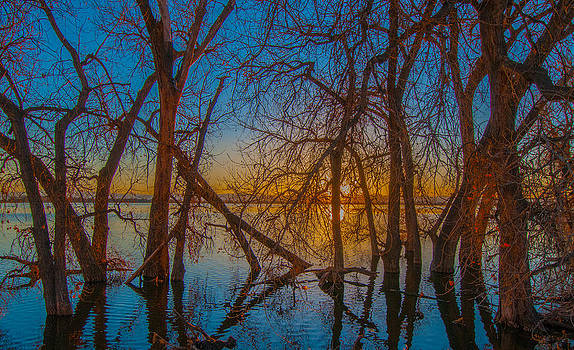 Sunset Over Barr Lake_2 by Tom Potter