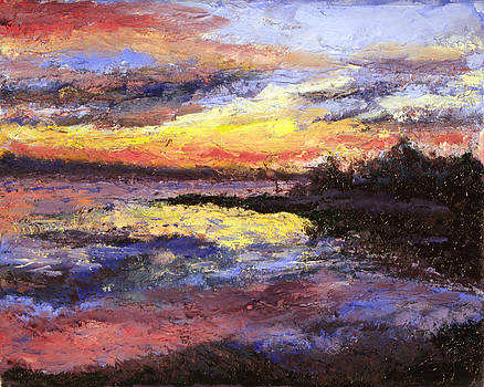 Sunset over Cow's point by Jennifer Braxton