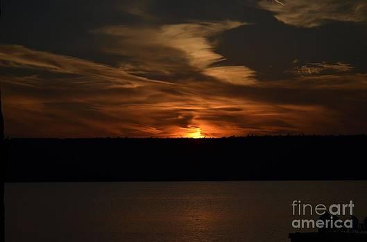 Sunset over Door County  by Linda Xydas