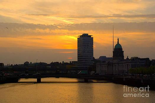 Joe Cashin - Sunset over Dublin city