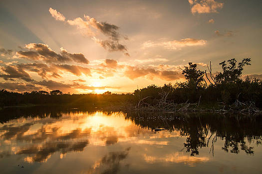 Sunset over Eco Pond by Doug McPherson