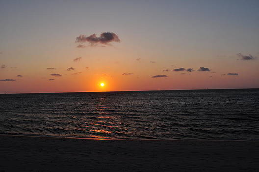 Sunset over Pamlico Sound by Jeff Moose