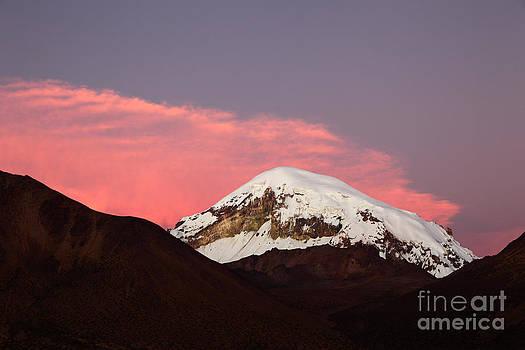 James Brunker - Sunset Over Sajama Volcano