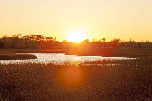 Sunset over Shem Creek by Curtis Keisler
