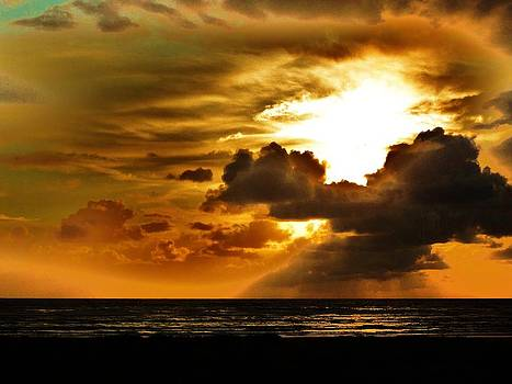 Sunset over the Pacific II by Helen Carson