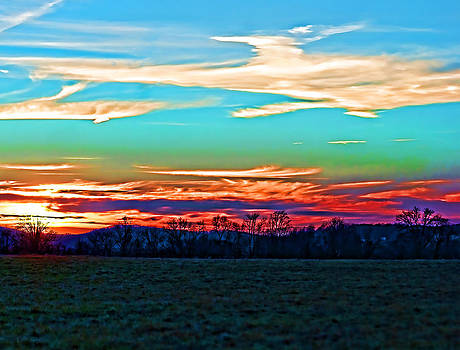 Sunset Over The Sunset by B Wayne Mullins